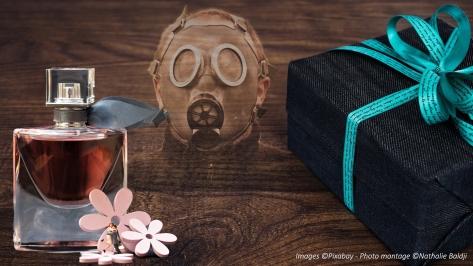 Images ©Pixabay - Photo montage ©Nathalie Baldji Perturbateur endocrinien dans les parfums.